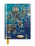 Circuit Board Blue Foiled Notebook
